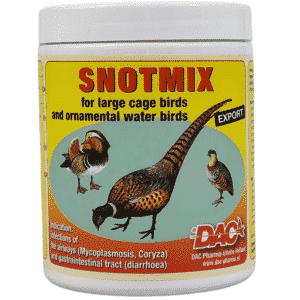 Mucus mix for large cage birds - and ornamental water birds